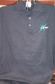 Golf Shirt - Black - Beautiful embroidery of our Cheer Extreme logo