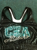 Black Metallic Allstars Sports Bra