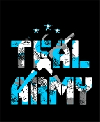 T Shirt - Teal Army / 3 Peat