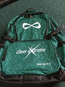 CEA Teal Sparkle Infinity Bag