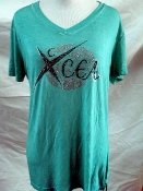 T Shirt - Teal V Neck