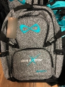 CEA Black Quilted Infinity Bag